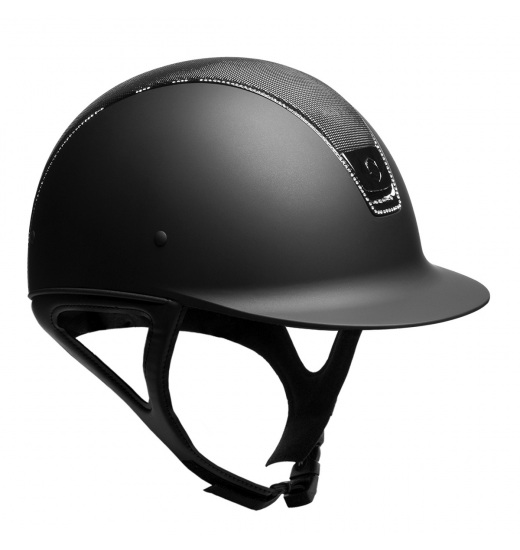 SHIMMER TOP / BLACK TRIM / 255 SWAROVSKI / BLACK CHROM / BLACK SHADOWMATT HELMET