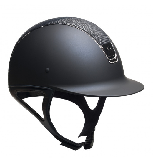 SHIMMER TOP / BLACK TRIM / 255 SWAROVSKI / BLACK CHROM / NAVY SHADOWMATT HELMET