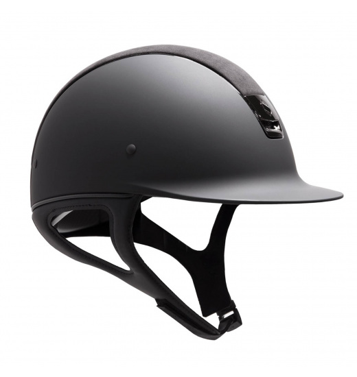 SHADOMWATT HELMET / ALCANTARA TOP / SHIELD SWAROVSKI / BLACK CHROME / BLACK