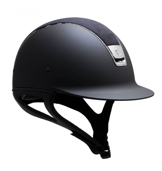 SHADOWMATT HELMET / ALCANTARA TOP / SHIELD SWAROVSKI / 255 SWAROVSKI / SILVER CHROME / NAVY