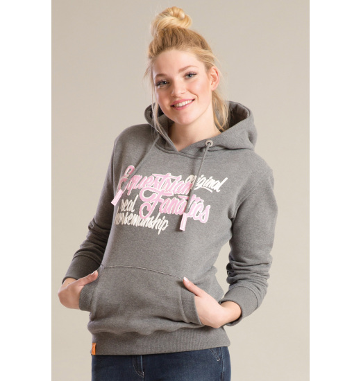 BELLA LADIES HOODIE ANTHRA MELANGE
