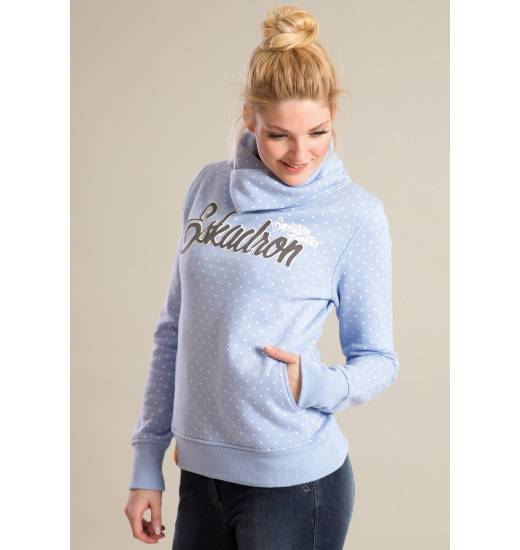 DONNA LADIES HOODIE BLUE DOTS