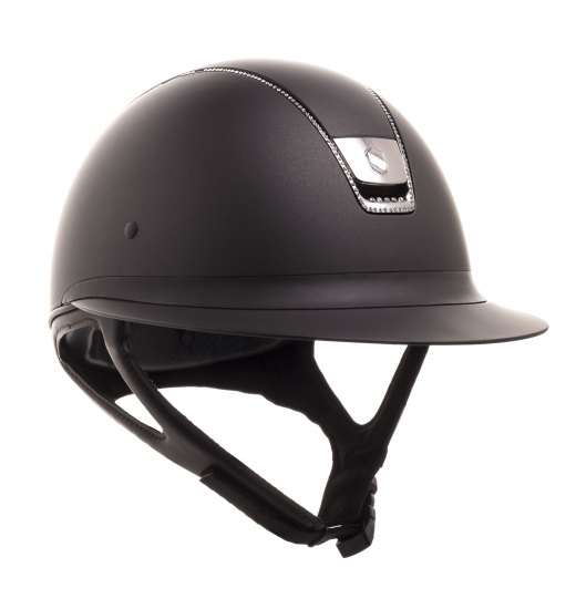 MISS SHIELD SHADOWMATT / 255 SWAROVSKI / BLACK CHROME / BROWN HELMET