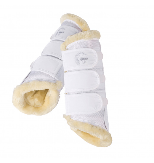 FAUXFUR TENDON BOOTS PLATINUM PURE