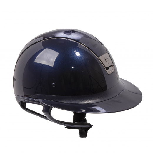 MISS SHIELD SHADOW GLOSSY / 5 SWAROVSKI / HELMET NAVY