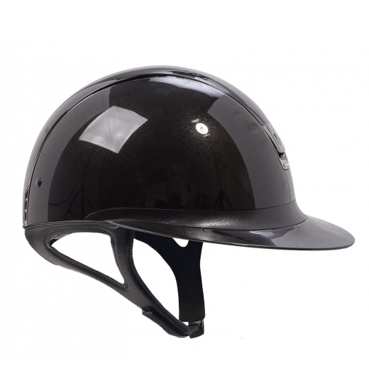KASK MISS SHIELD SHADOW GLOSSY / 5 SWAROVSKI / CZARNY