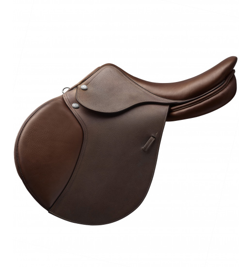 MEDIUM SEAT PRINTED LEATHER JUMPING SADDLE