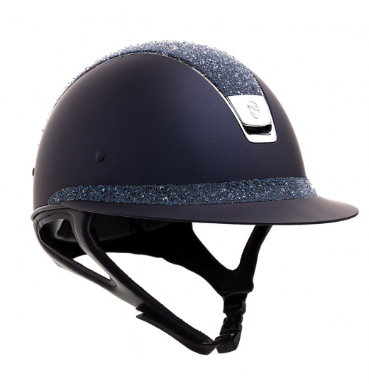 MISS SHIELD SHADOWMATT / CRYSTAL MEDLEY BLUE / SILVER CHROME / NAVY HELMET