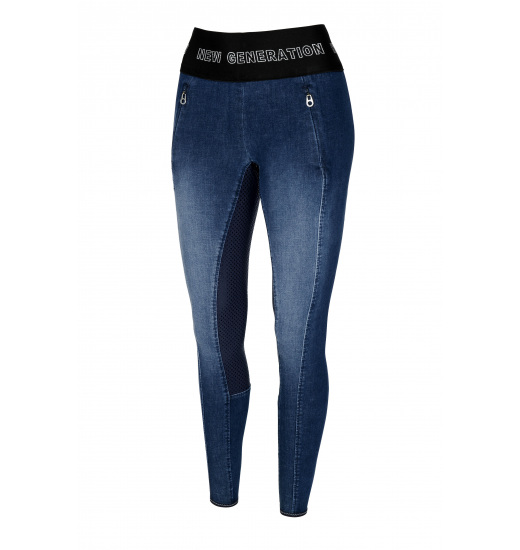 GWEN JEANS ATHLEISURE FULL GRIP PULL ON BREECHES