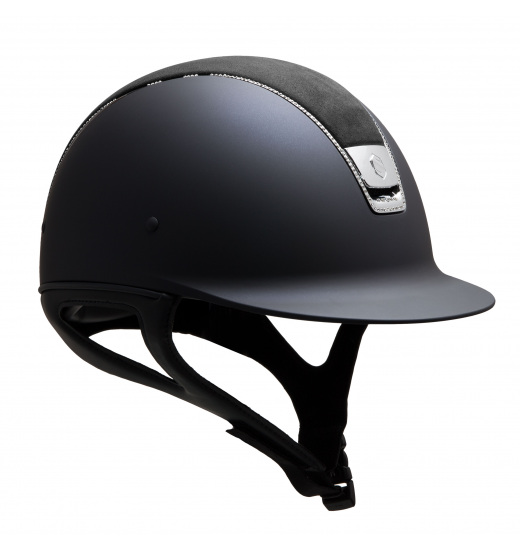 SHADOWMATT / ALCANTARA TOP BLACK / 255 SWAROVSKI / SILVER CHROM / NAVY HELMET