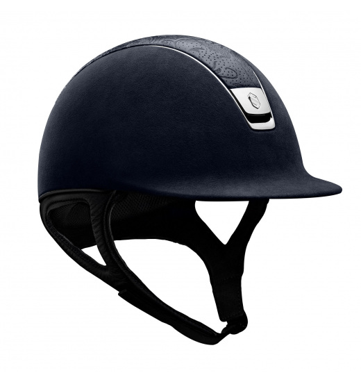 PREMIUM / LEATHER FLOWER TOP / SILVER CHROME / NAVY HELMET