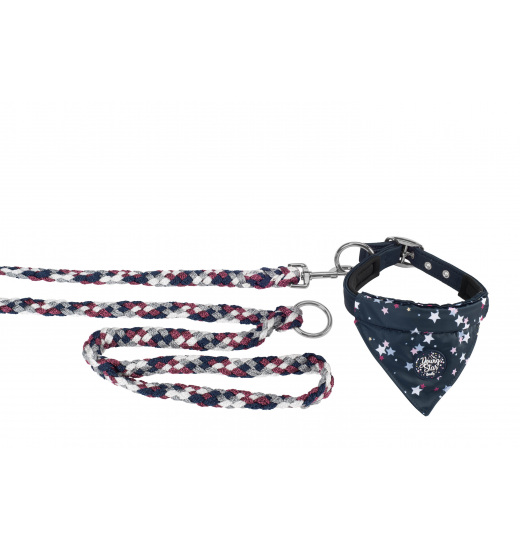 DOG'S SET COLLAR & LEASH YOUNG STAR