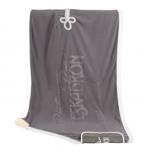 STAMPED FLEECE SWEAT RUG PLATINUM PURE