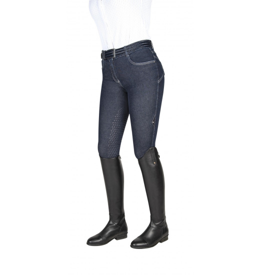 CALYPSO WOMEN'S DENIM HALF GRIP BREECHES