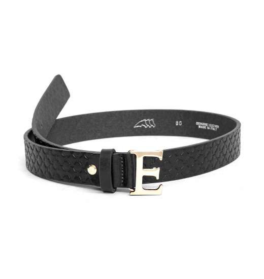 BRITA UNISEX LEATHER BELT WITH BUCKLE