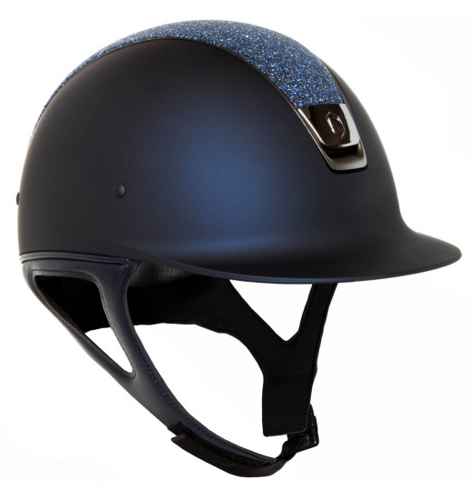 TOP CRYSTAL / BLACK CHROME / NAVY SHADOWMATT HELMET