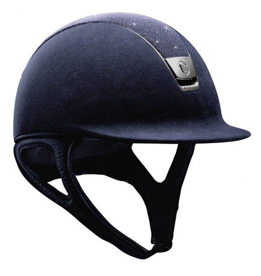 TOP CRYSTAL / BLACK CHROME 5 / NAVY PREMIUM HELMET