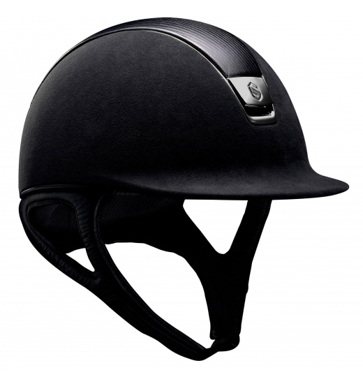 LEATHER TOP/ BLACK CHROME/ BLACK PREMIUM HELMET