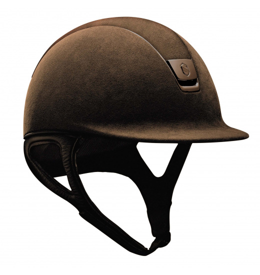 ALCANTARA TOP/ BROWN TRIM /BROWN PREMIUM HELMET
