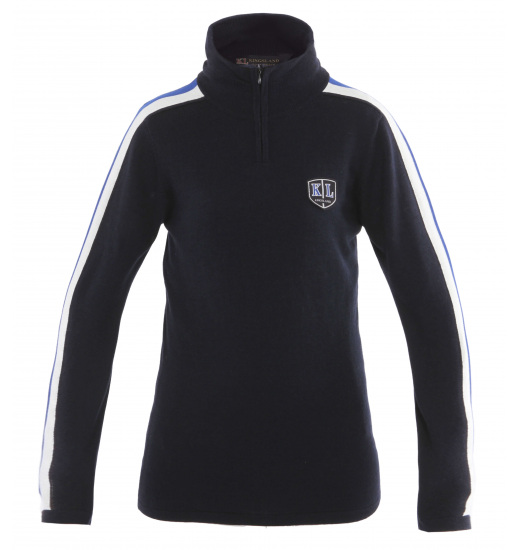 WIMBLEDON LADIES JUMPER WITH 3/4 ZIPPER