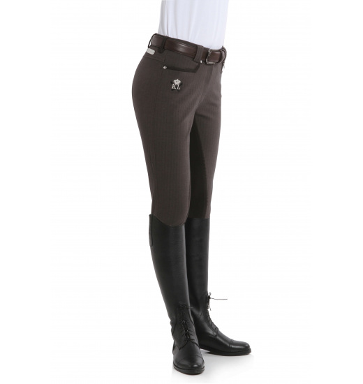 KELLY LADIES BREECHES WITH LEATHER FULL SEAT AND SEQUINS