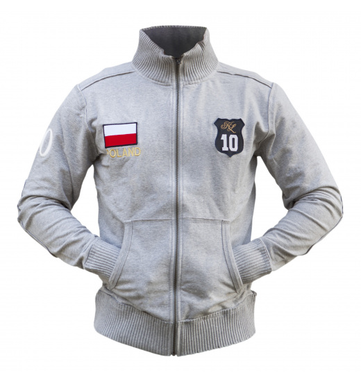 ZIPPERED UNISEX POLAND SWEATSHIRT