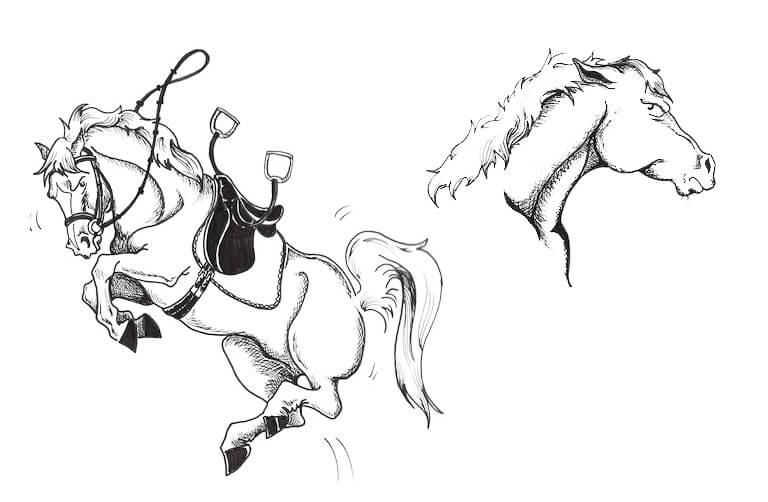 typ konia - groźna bestia