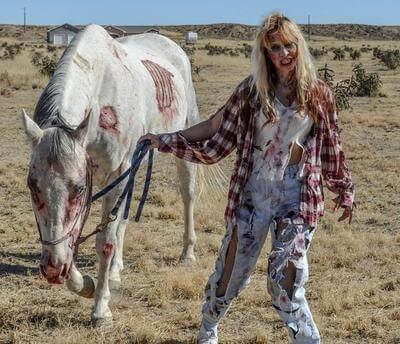 zombie kostium halloween dla konia