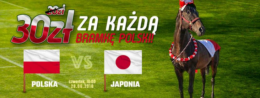 30 zł za każdą bramkę Polaków z Japonią