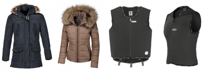 Zimowe kurtki i kamizelki