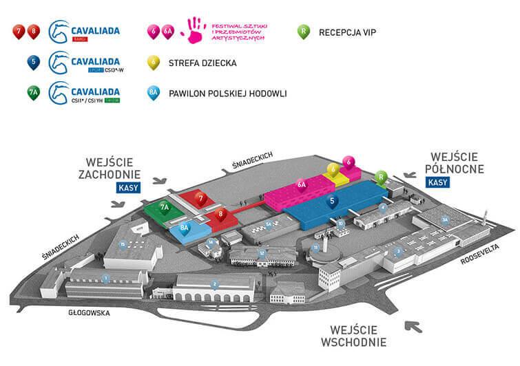 Plan Międzynarodowych Targów Poznańskich podczas Cavaliady Poznań 2014