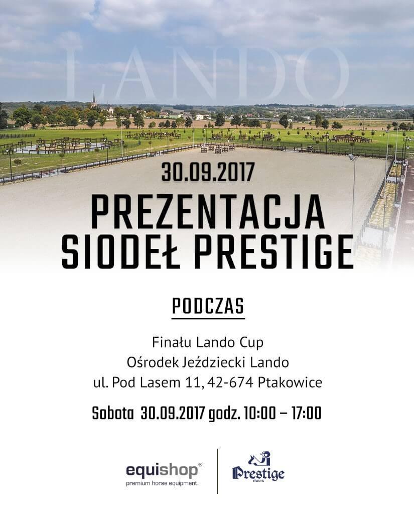 Prezentacja siodeł Prestige Italia podczas finału LANDO CUP!
