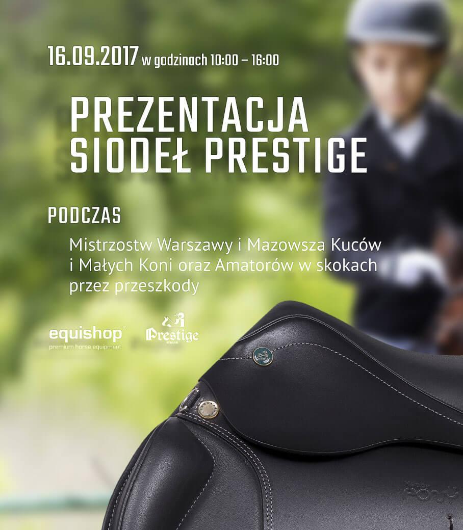 Prezentacja siodeł Prestige Italia - Mistrzostwa Warszawy i Mazowsza Kuców i Małych Koni oraz Amatorów w skokach przez przeszkody