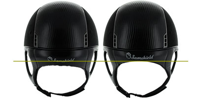 alcantara helmet with or without dressage chinstrap